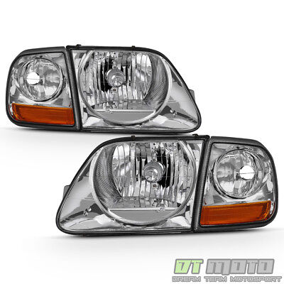 $69.99 • Buy 1997-2003 Ford F150 Expedition Lightning Style Headlights W/Corner Signal Lights