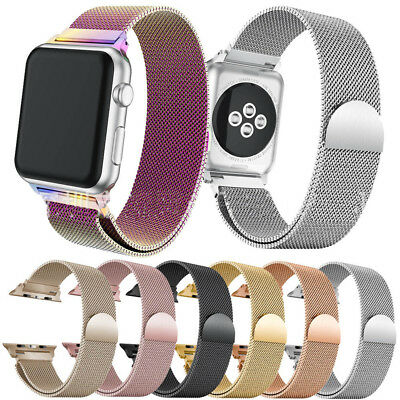 AU16.48 • Buy Magnetic Stainless Steel Milanese Loop Watch Band For 42/38mm Apple Watch1 2 3 4