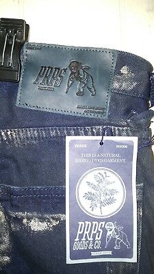 PRPS Demon Slim Fit Moto Indigo Jeans W/Gold Print Men Size 33×35 NEW $375.00 • 57.75£
