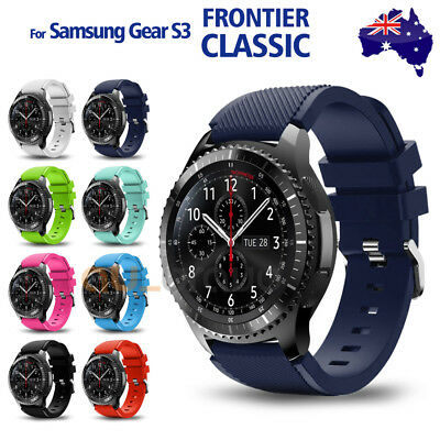 AU6.95 • Buy Gear S3 Frontier Classic Fashion Sports Silicone Bracelet Strap Band Samsung