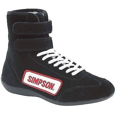$99.95 • Buy Simpson 28130BK Black High Top Race Driving Shoes SFI And FIA Rated Size 13