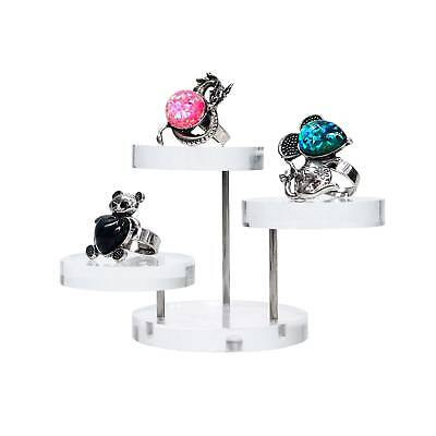 Counter Display Small 3 Tier Circular Acrylic Stand Jewellery Models (G166) • 7.99£