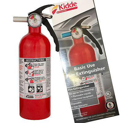 $22.99 • Buy KIDDE DRY CHEMICAL FIRE EXTINGUISHER Home Car Auto Garage Kitchen Safety 5-B:C