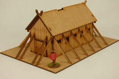 £24.99 • Buy Dark Age VIKING TIMBER PLANKED LONG HOUSE 1  MDF 28mm Scale Building J018
