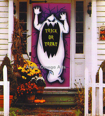 $5.49 • Buy 6-Ft. Ghost Silhouette Wall Door Table Cover Trick Or Treat Halloween Decor