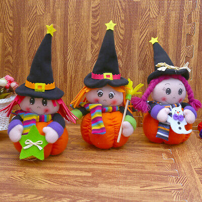 $7.19 • Buy Cute Witch Doll Toys Pumpkin Table Decoration Home Plush Stuffed Doll