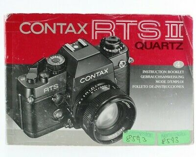 $ CDN42.57 • Buy Bedienungsanleitung Contax RTSII RTS2 RTS-II RTS-2 RTS 2 II Quartz Instructions