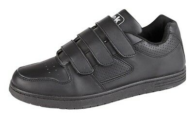 £16.98 • Buy Mens Wide Fitting Trainers Black Touch Fastening New Sizes 6 7 8 9 10 11 12