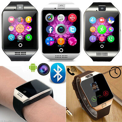 $ CDN20.94 • Buy 1Pc Q18 Bluetooth Touch Screen Smart Watch Support GSM SIM Card For Android New