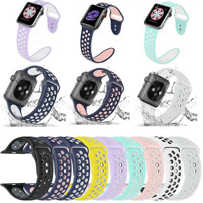 AU11.69 • Buy Replacement Silicone Sport Band Strap 40mm 44mm For Apple Watch 5/4/3/2 IWatch