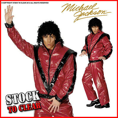 OFFICIAL DELUXE MICHAEL JACKSON THRILLER RRP £47.99 Fancy Dress Costume • 9.95£