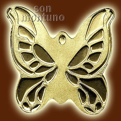 24K GOLD BUTTERFLY - 1/2 Half Gram 11mm One Dollar Coin In Capsule + Certificate • 74$