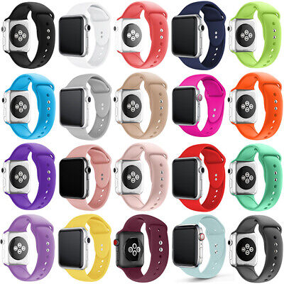 AU11.39 • Buy Replacement Wrist Silicone Sport Band Strap For Apple Watch Series 6 40/44 38/42