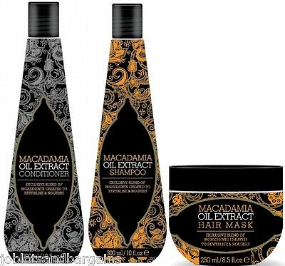 £8.99 • Buy Macadamia Natural Oil Extract Hair Treatment Gift Set - Shampoo Conditioner Mask