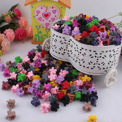 $1.58 • Buy 30PCS Kids Baby Girls Candy Color Hairpins Mini Claw Hair Clips Clamp Flower Set