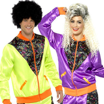 Retro Shell Suit Adults Fancy Dress Tracksuit 1980s Scouser Mens Ladies Costume • 21.99£