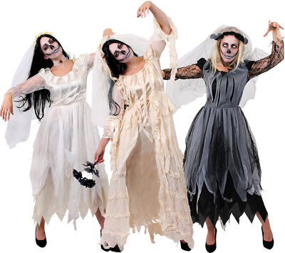 Ladies Corpse Bride Halloween Zombie Ghost Fancy Dress Choose Havisham Women Lot • 22.99£