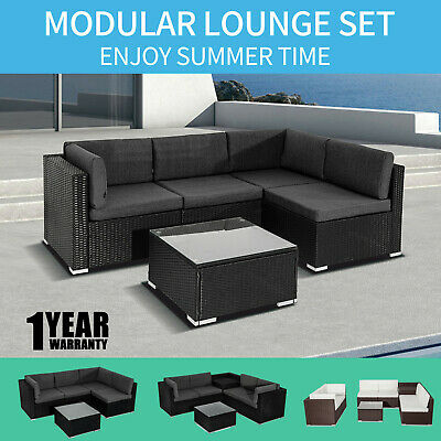 AU799 • Buy Outdoor Furniture Set PE Wicker Garden Modular Lounge Sofa Set