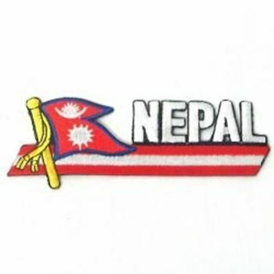Nepal Sidekick Word Country Flag Iron On Patch Crest Badge ... New • 1.69£