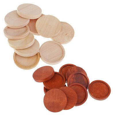 20x Brown Natural Wooden Charms Setting Tray Fit Glass Cabochon Cameo 25mm • 3.95£
