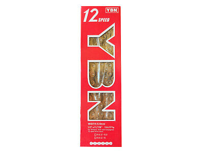 AU74.95 • Buy Chain 12 Speed YBN S12S Long Life 126 Link With QRS Joiner