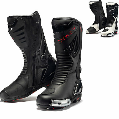 £79.99 • Buy Black Panther Sports Motorcycle Boots Track Leather Racing Motorbike