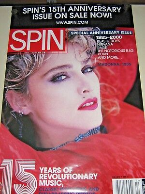 $11.99 • Buy Madonna / Rare Promo POSTER /  Spin Magazine Cover  - Exc. New Cond. / 24 X 36