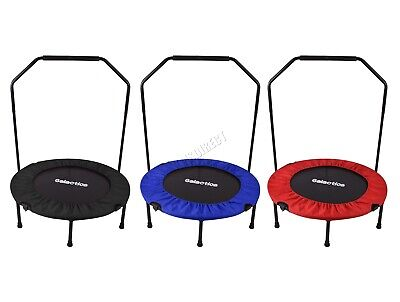 GALACTICA  Mini Trampoline – Foldable Fitness Rebounder With Handrail – 36/40/48 • 45.25£