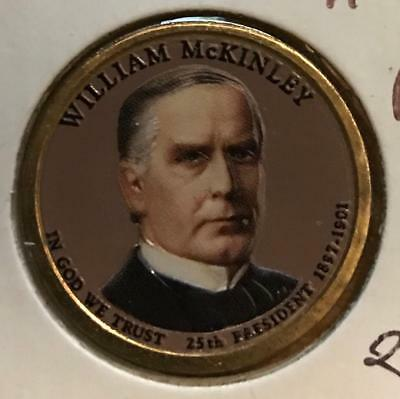 $8.10 • Buy 2 Sided Colorized 2013 P&d William Mckinley 2 Coin Presidential Dollar Set