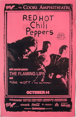 $15.83 • Buy Red Hot Chili Peppers/flaming Lips By The Way Tour 2003 San Diego Concert Poster