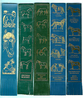 British Horses Gifts Leather Bookmark I Love Pretty Ponies Britain Exmoor Shire • 2.99£