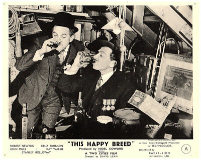 This Happy Breed Original 8x10 Lobby Card 1944 Robert Newton Stanley Holloway • 39.48£