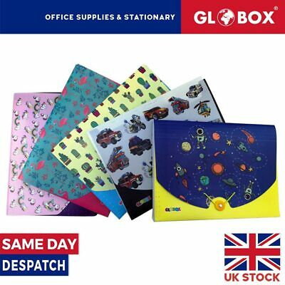 £3.99 • Buy A4 Printed Expanding Folder With 13 Pockets And Elastic Cord