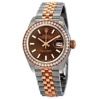 $ CDN18039.82 • Buy Rolex Lady Datejust Chocolate Dial Automatic Ladies Steel And 18K Everose Gold