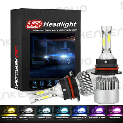 $18.47 • Buy 1  Pair  9007 8000LM LED Headlight Kit High/Low Beam Bulbs 6500K White
