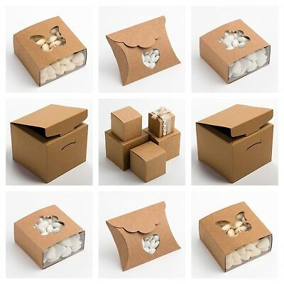 £1.50 • Buy RUSTIC KRAFT Luxury DIY Wedding Favour Or Christmas Gift Boxes (Box Only)