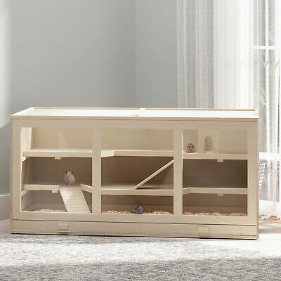 £70.99 • Buy PawHut Hamster Cage Small Animals Hutch Mouse Rats Mice Exercise Play House