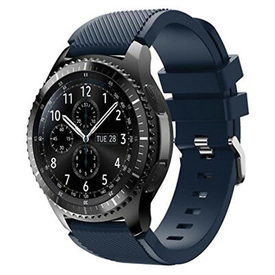 AU285.80 • Buy Samsung S3 Frontier Stainless Steel Case Blue Black Silicone Strap