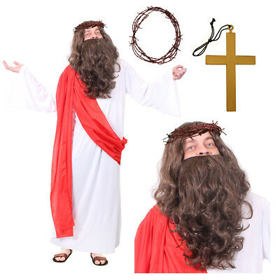 £24.99 • Buy Adults Jesus Christ Religious Costume Nativity Christmas Easter Fancy Dress