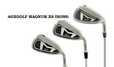 AU109.27 • Buy Mens Right Hand Magnum Xs #3, 4 & 5 Wide Sole Graphite Iron Set Any Length &flex