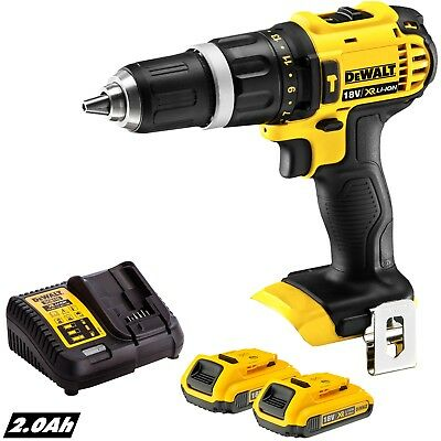 Dewalt DCD785N 18V Li-ion 2 Speed Combi Drill With 2 X 2.0Ah Batteries & Charger • 153£