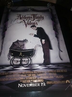 $ CDN13.23 • Buy 1993 ADDAMS FAMILY VALUES Original Advance Movie Poster 27 X 40
