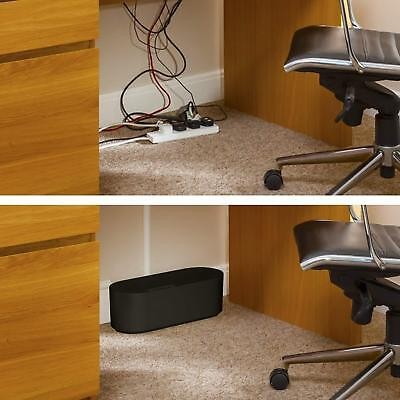 D Line Tidy Cable Management Box ABS Small Black Extension Socket Case Hide Wire • 10.99£