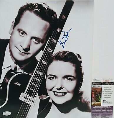 $299.99 • Buy LES PAUL Signed Autograph 11x14 Photo Country Jazz Blues Rock & Roll Guitar JSA
