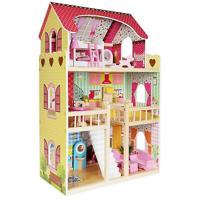 £74.99 • Buy Boppi® Toy Wooden Girls Dolls House 3 Storey Town Mansion+ Furniture Accessories