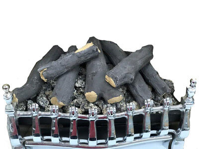 16  Living Flame Gas Fire VICTORIAN V4 Inset Fire LOG COAL EFFECT REMOTE CONTROL • 440£