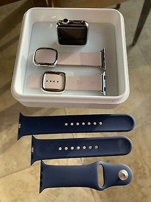 $ CDN329.55 • Buy Apple IWatch Watch Series 1 38mm Stainless Steel With 2 Bands Charger & Box
