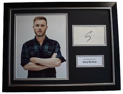 Gary Barlow Signed Framed Autograph 16x12 Photo Display Take That Music COA • 179.99£