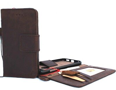 AU52.42 • Buy Genuine Real Leather Case For LG V30  Wallet Cover Book Stand Magnetic Removable