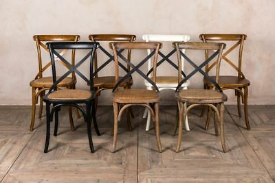 £108 • Buy Bentwood Dining Chairs Oak Wooden Chairs Cross Back Dining Chairs